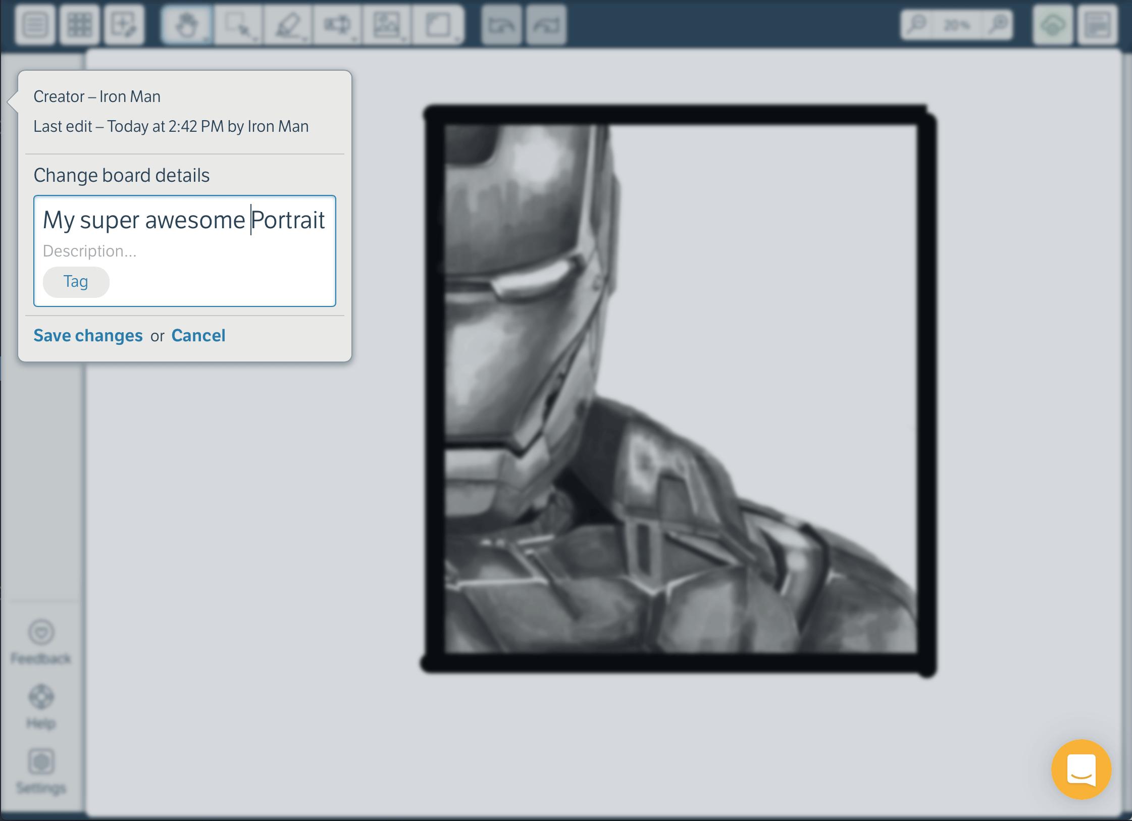Edit board details